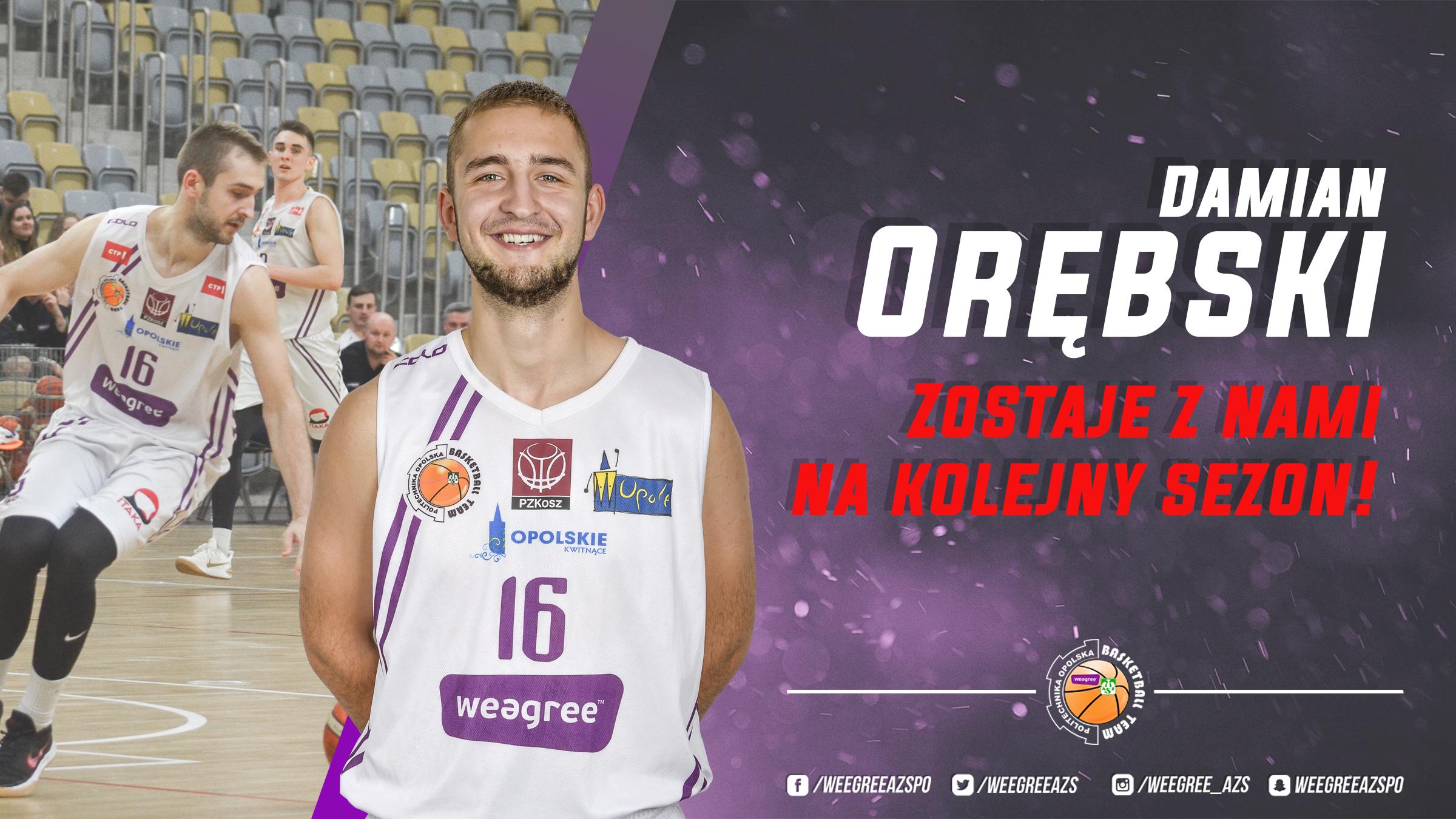 Damian Orębski zostaje na kolejny sezon!